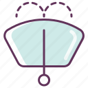 auto, fluid, parts, windscreen, windshield icon