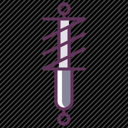 automobile, fix, parts, service, spring, strut, suspension icon