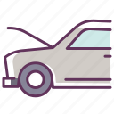 auto, car, hood, service, up.fix icon