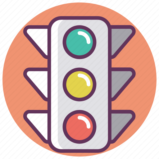 accident, car, green, lightred, service, traffic, yellow icon