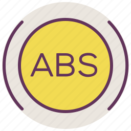 abs, alarm, service, sign, signal, warning icon
