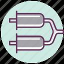 auto, automobile, car, exhaust, muffler, pipe, service icon