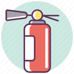 extinguisher, fire, fire extinguisher, protection, safe, safety, warning icon