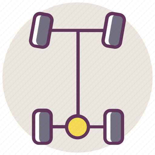 auto, axle, balancing, car, drivetrain, parts, service icon