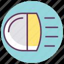 beam, headlight, light, main beam, main beam headlights, sport light, warning icon