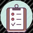 board, checklist, pad, problme, report, service, tasks icon