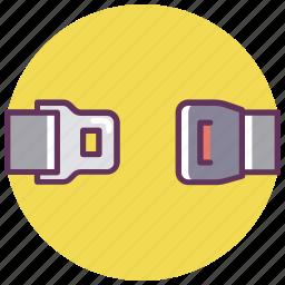 belt, car, safety, seat, service, unlock icon