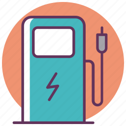 car, charge, charging, electromobile, service, station icon