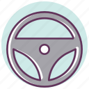 automotive, car, drive, helm, power, service, tool icon