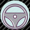automotive, car, drive, helm, power, service, tool icon