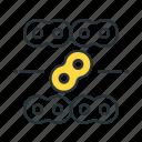 auto parts, chain, spare parts icon