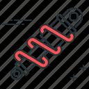absorber, damper, shock, suspension icon