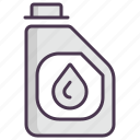 antifreeze, aqua, canister, car, oil, service, tool icon