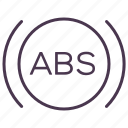abs, alarm, brakes, servive, sign, signal, warning icon