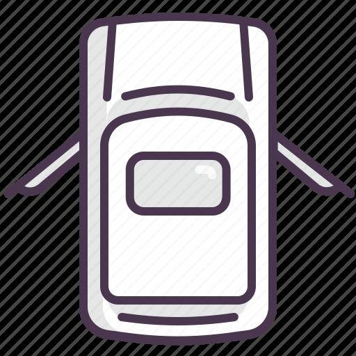 auto, car, doors, left, open, parts, right icon
