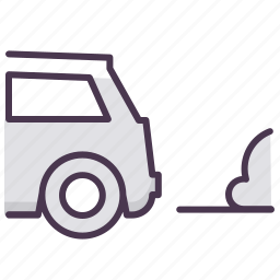 auto, automobile, car, carexhaust, pollution, servive icon