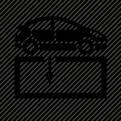 car refit, car services, repair shop, roadside services icon