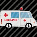 car, ambulance, road, transport, vehicle icon