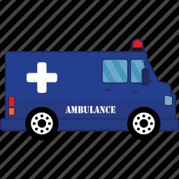 ambulance, car, road, transport, vehicle icon