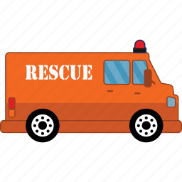 car, rescue, road, transport, vehicle icon