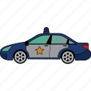 car, police, road, transportation, vehicle icon