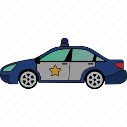 car, police, road, transportation, vehicle icon