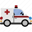 ambulance, car, medical, transport, vehicle icon