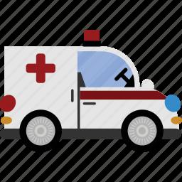 ambulance, car, medical, transport, vehicle icon