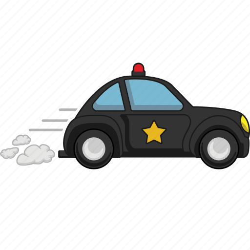 car, police, road, transport, transportation, vehicle icon