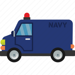car, navy, road, transport, vehicle icon