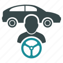 auto, car, drive, driver, owner, steering, taxi icon