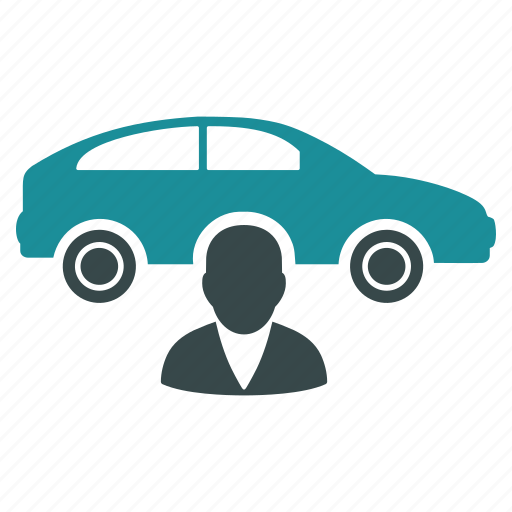car salesman, owner, passenger, person, rent, taxi, transfer icon