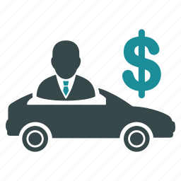 buyer, car salesman, dollar, pay, payment, sale, seller icon