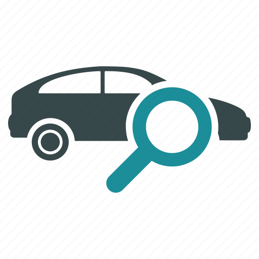 car, find, magnifier, magnifying glass, search, view, zoom icon