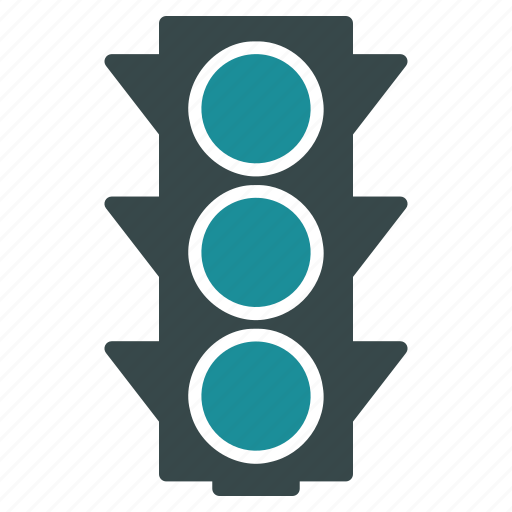 control, intersection, regulate, safety, semaphore, stoplight, traffic lights icon
