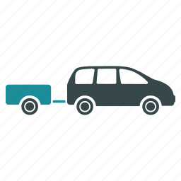 car, caravan, trailer, transport, transportation, vacation, vehicle icon