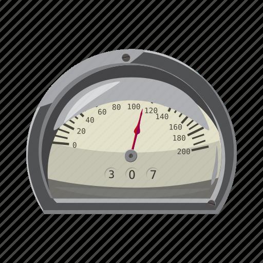 car, cartoon, fast, meter, power, speed, speedometer icon