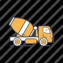 truck, vehicle, transportation, transport, car, concrete truck icon