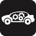 auto, automobile, car, gear, maintenance, servicing, vehicle icon