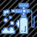 bubbles, foam, washing, wiping icon