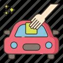 car, vehicle, wash, waxing icon