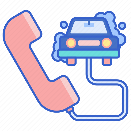 call, car, wash icon