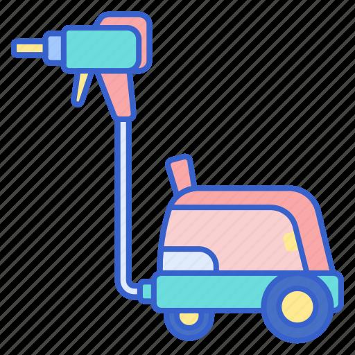 car, steamer, wash icon