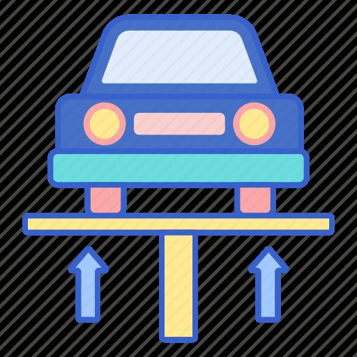 car, lift, washing icon
