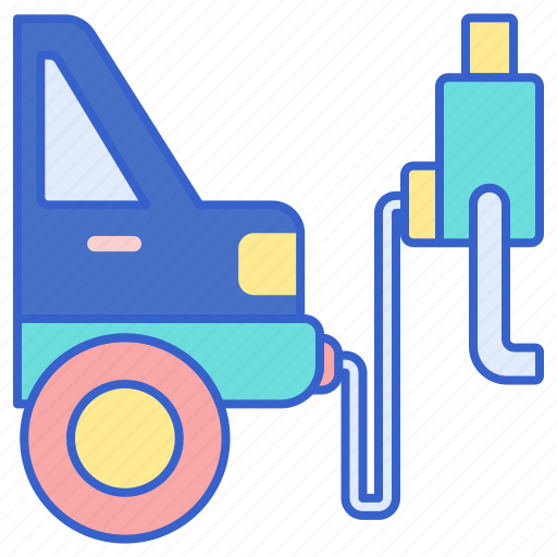 cycle, emissions, test icon