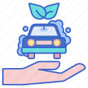 car, environmental, friendly, wash icon