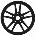 auto, car, sedan, wheel icon