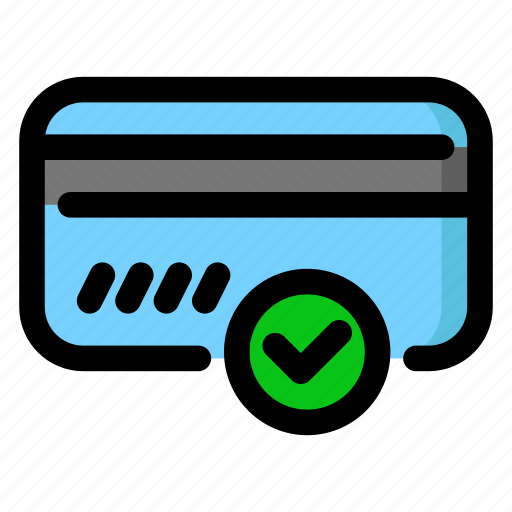 approved, card, payment icon