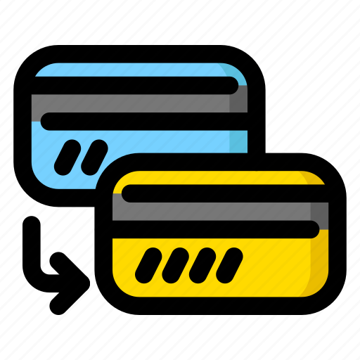 card to card, card-to-card, money transfer icon