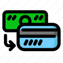 card, cash, deposit, money icon